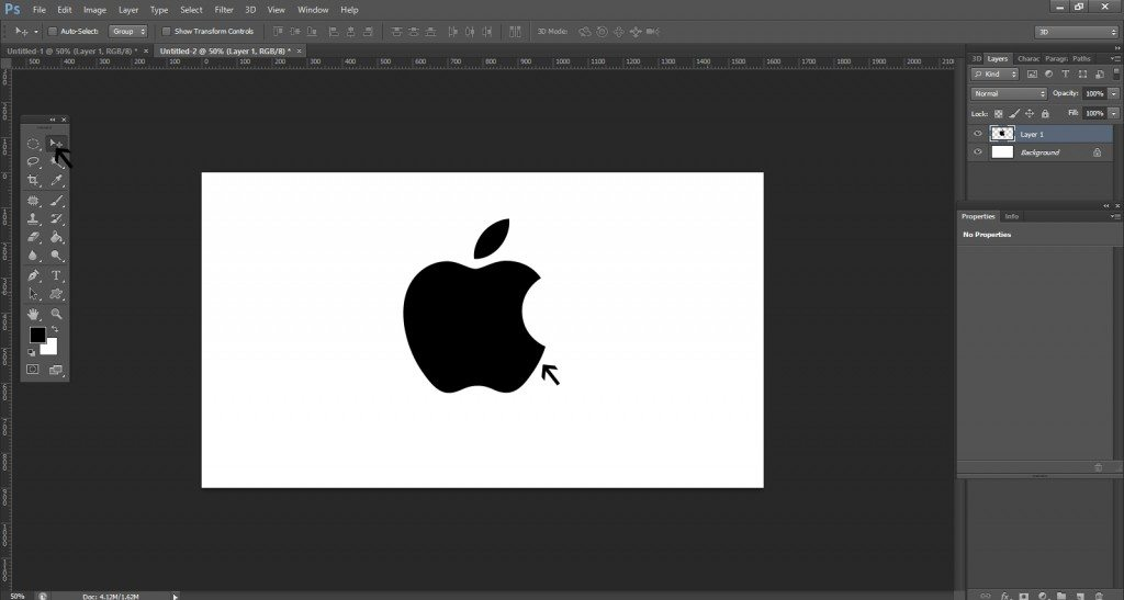 Step- 3 (Easy Steps To Create Apple Logo)