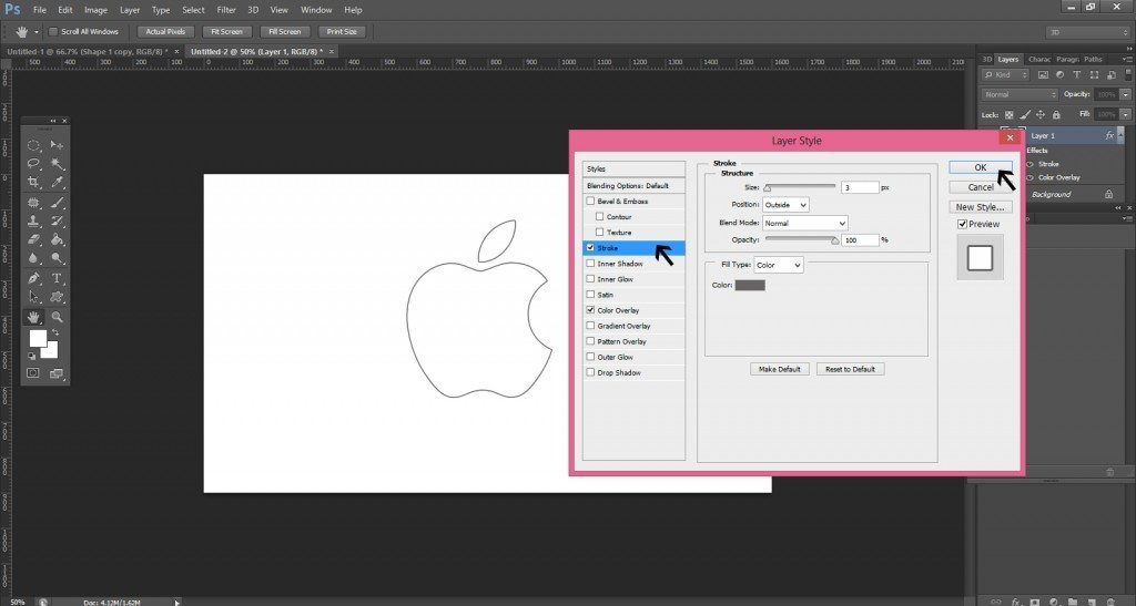 Step- 4 (Easy Steps To Create Apple Logo)
