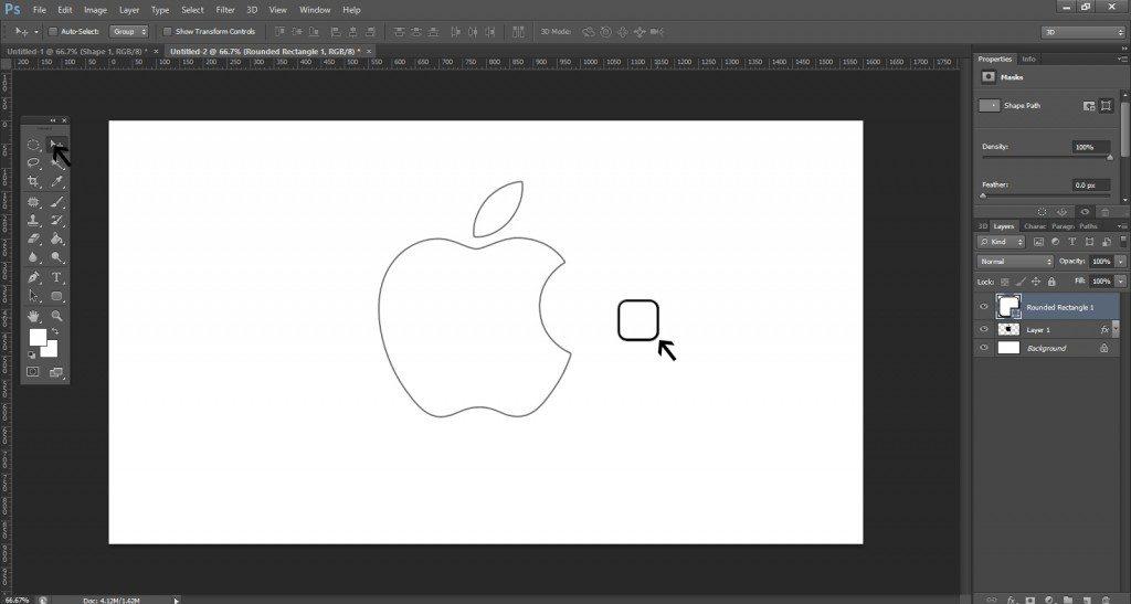 Step- 5 (Create Apple Logo In Photoshop)