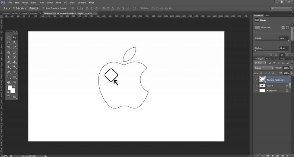 Step- 6 (Create Apple Logo In Photoshop)