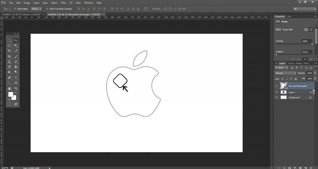 Step- 6 (Create Apple Logo In Photoshop)