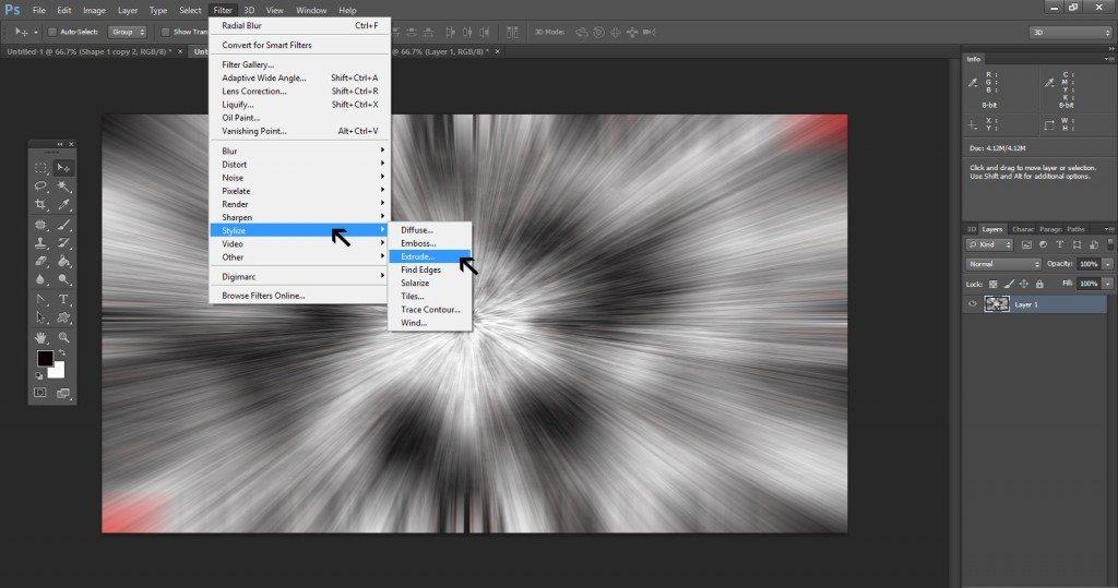 Step - 7 (Create 3D Blocks Background In Photoshop)