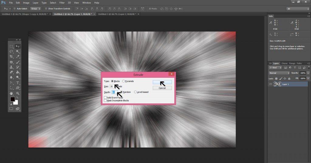 Step - 8 (Create 3D Blocks Background In Photoshop)