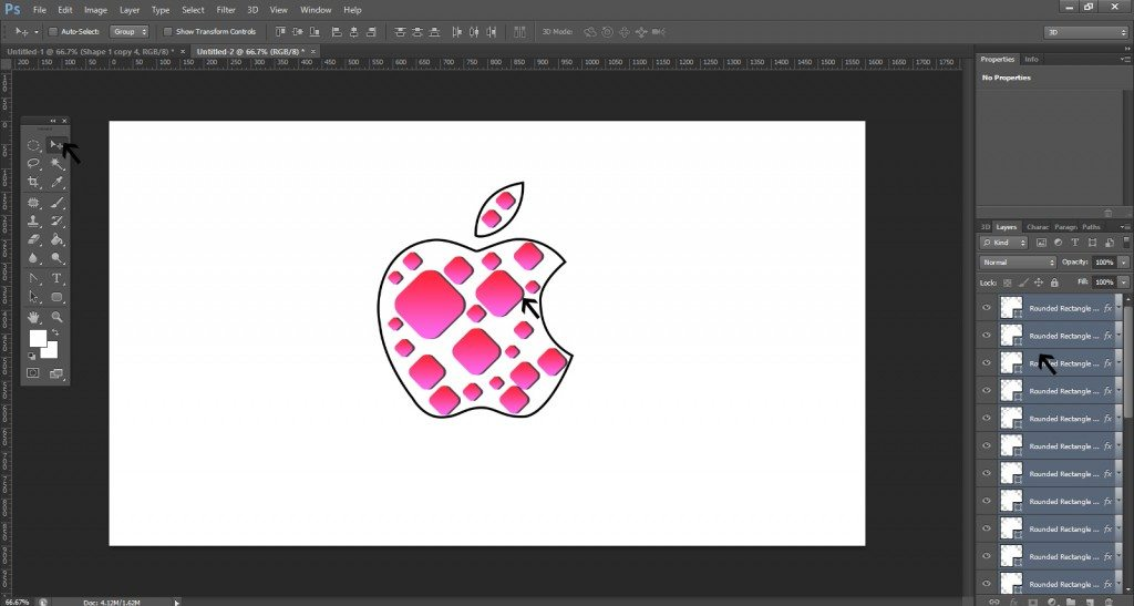 Step- 8 (Step to Create Apple Logo)
