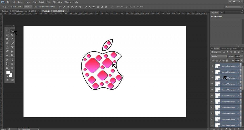 Step- 8 (Step to Create Apple Logo)