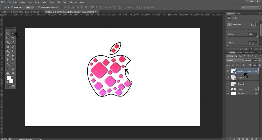 Step- 9 (Step to Create Apple Logo)