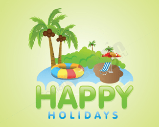 Happy Holiday tour and travel logo