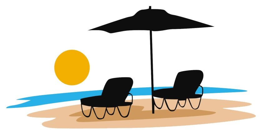 Beach travel Logos