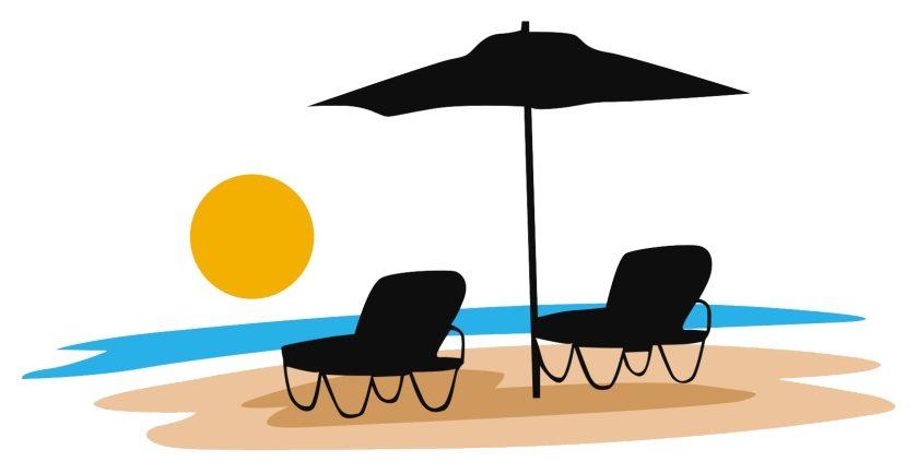 Beach travel Logos