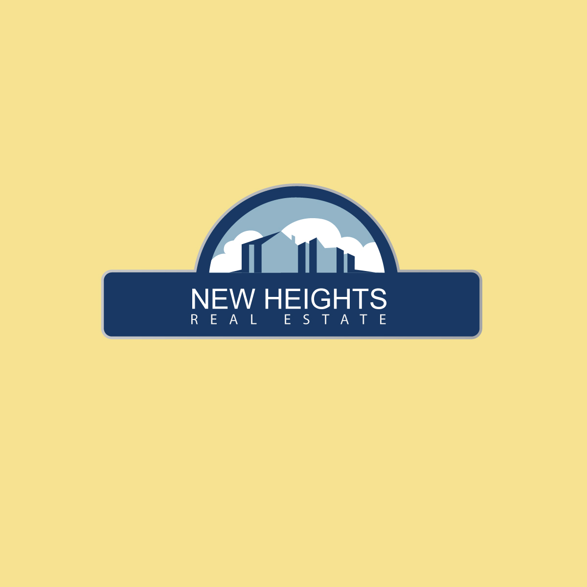 Winning Logo Design for New Heights Real Estate