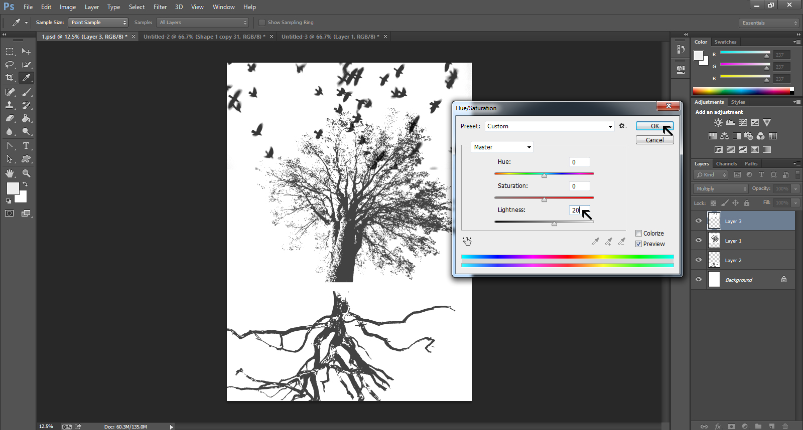how to create a gig poster in photoshop