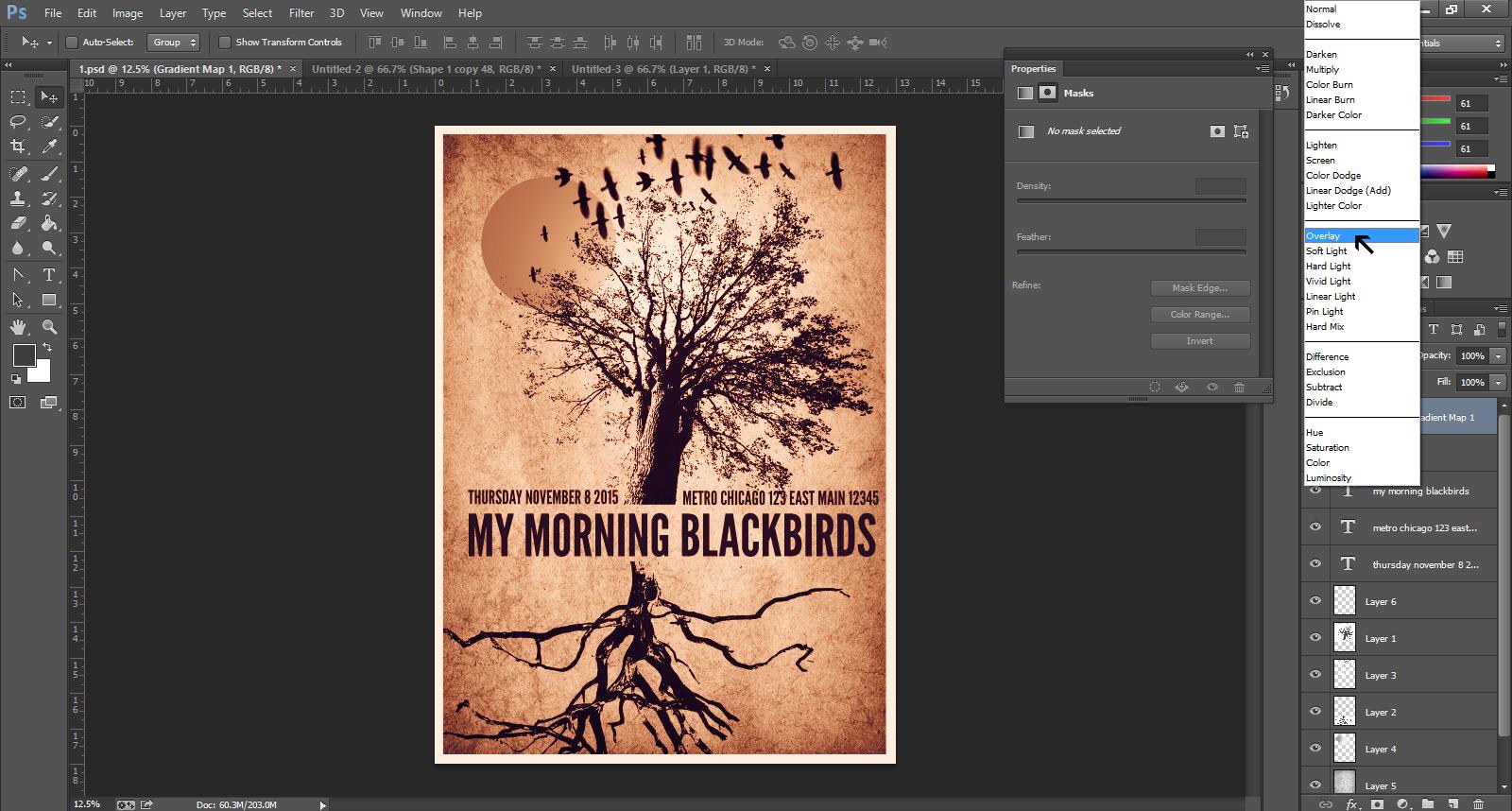Gig Poster Design Step 39