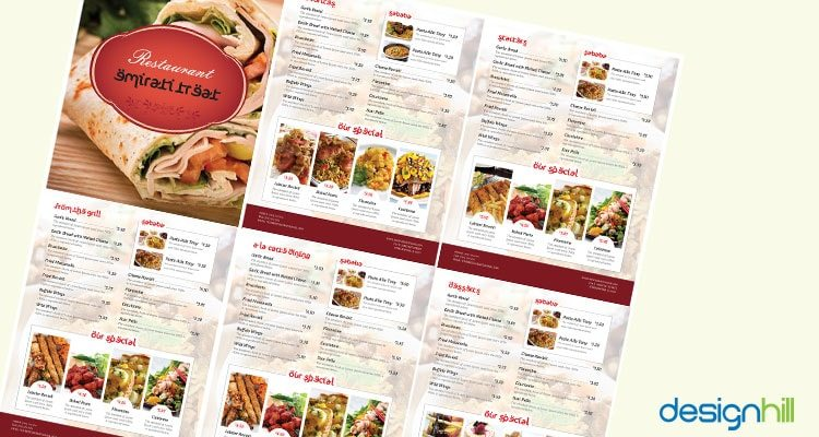 10 most appetizing restaurant menu card design
