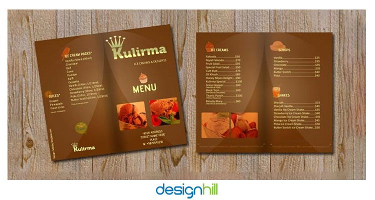 Most appetizing restaurant menu card design