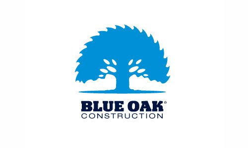 Blue Oak Construction Logo Design