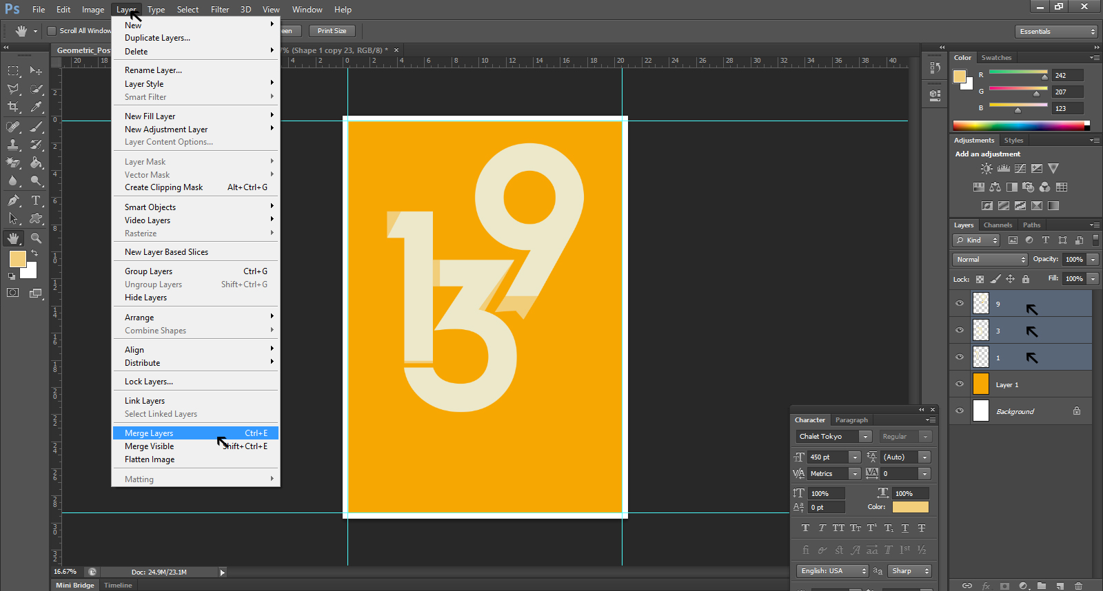 Geometric Poster Design Photoshop Tutorial