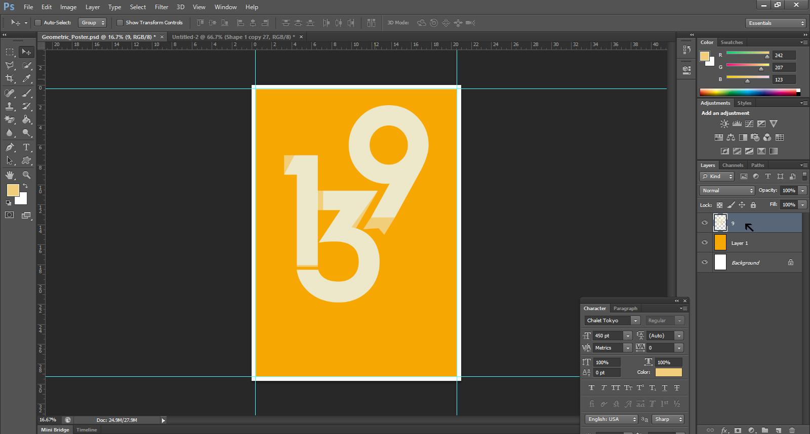 Geometric Poster Design Photoshop Tutorial