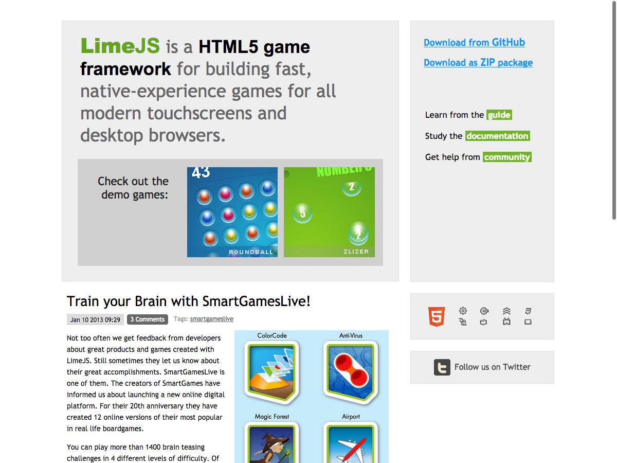 LimeJS HTML5 Frameworks for web designers