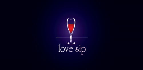 Love sip Food & Drinks Logo Design