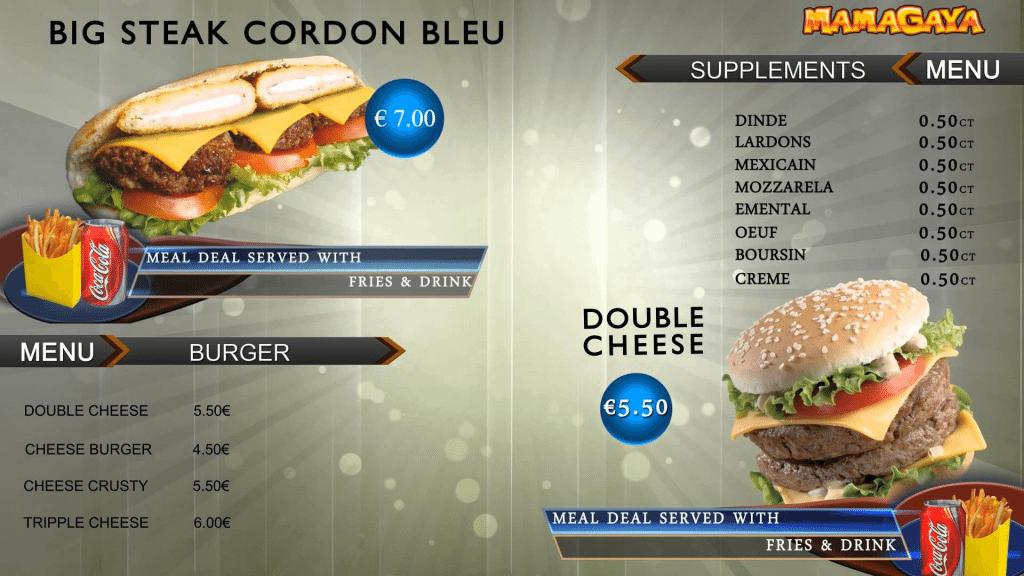 Big Steak Cordon Blue Menu Card Design