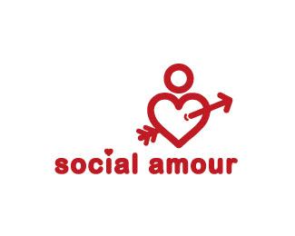Social Amour Love Logos