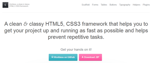 Workless HTML5 Frameworks