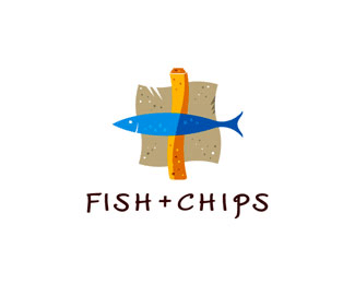 Fish + Chips Food & Drink Logos