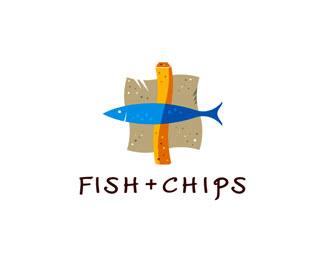 Fish + Chips Food & Drink Logos