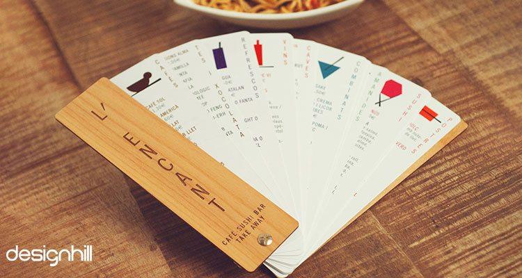 L'Encant menu card design
