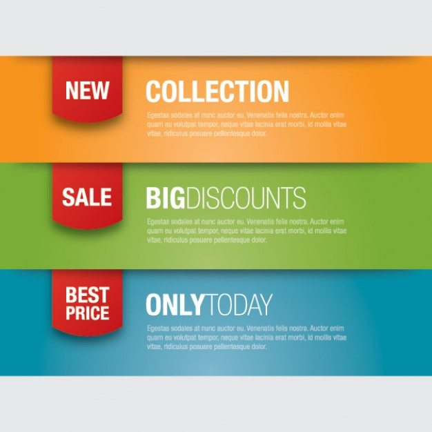New Collection banner ads