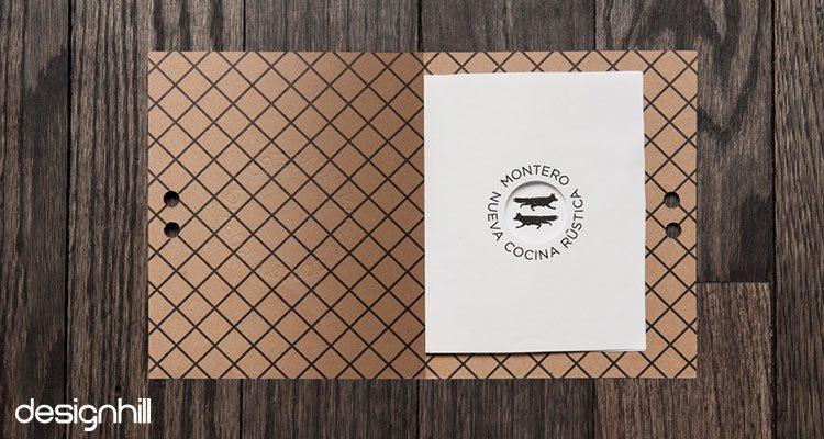 Montero menu card design