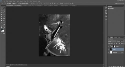 Ink Splattering Knight  Step-1