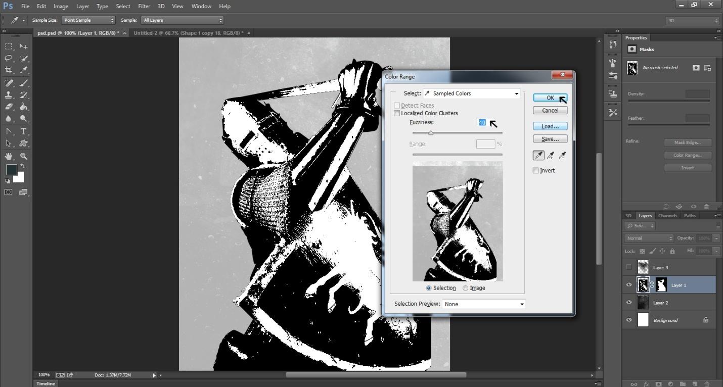 Ink Splattering Knight Step -1