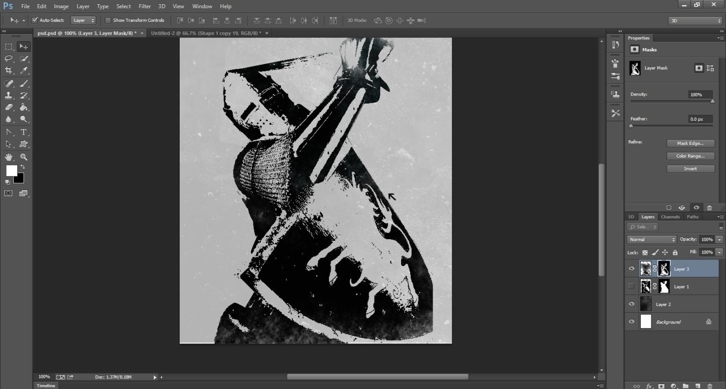 Ink Splattering Knight Step -2