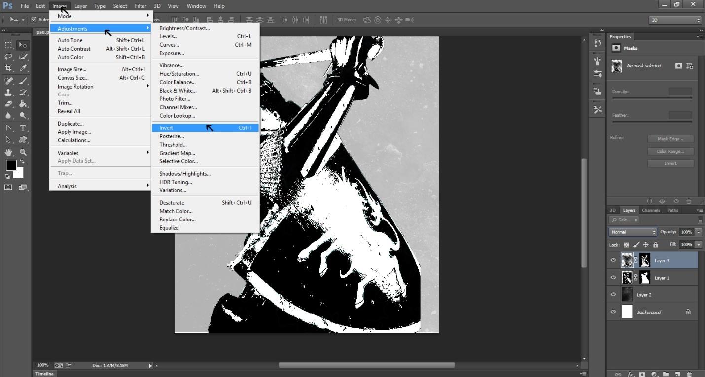 Ink Splattering Knight Step -3