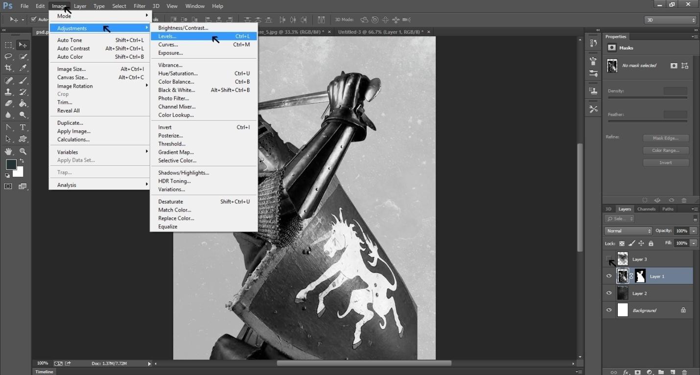 Ink Splattering Knight Step -4