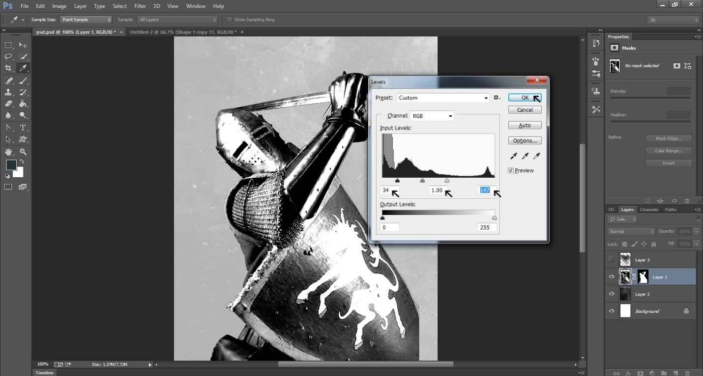 Ink Splattering Knight  Step-5