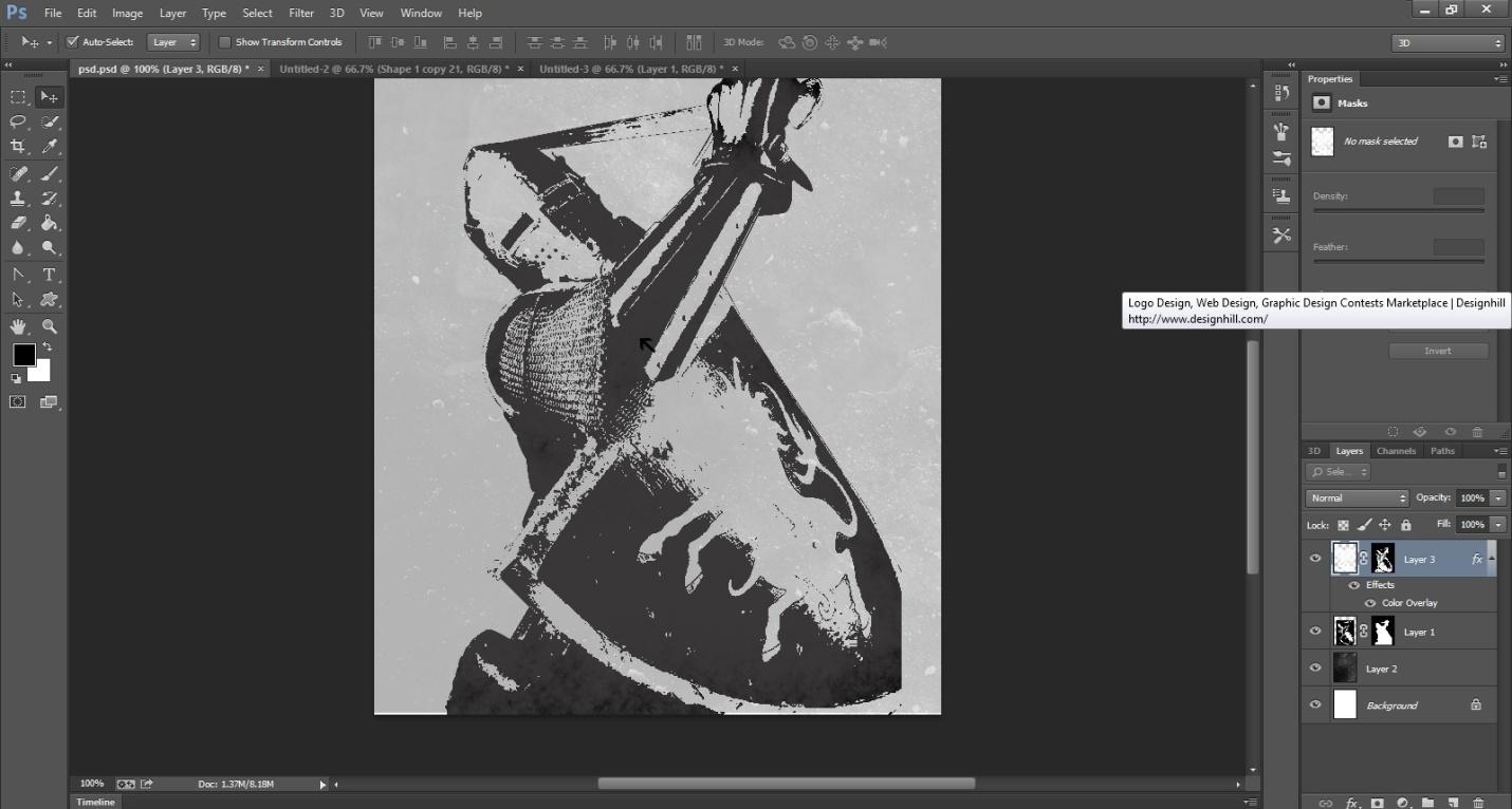 Ink Splattering Knight Step -5