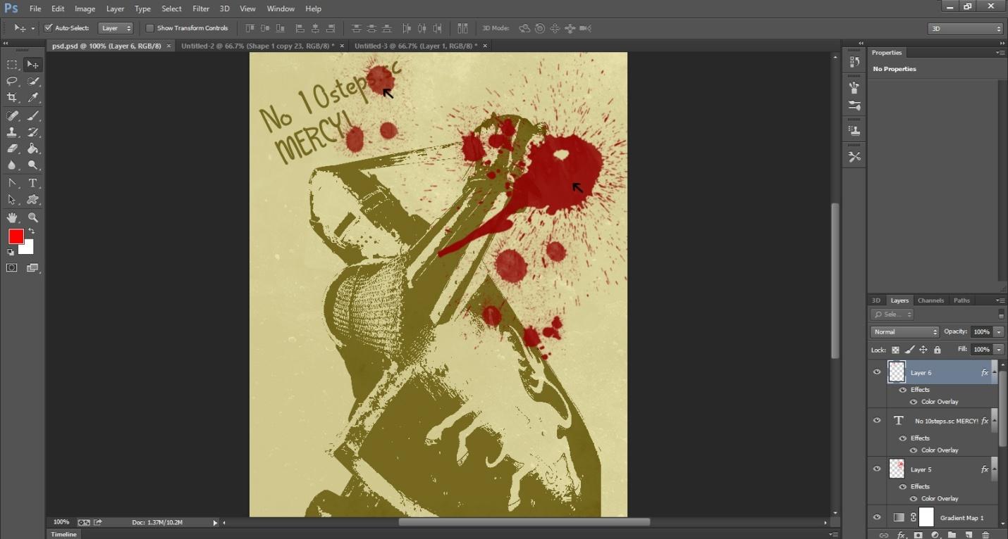 Ink Splattering Knight Step -7