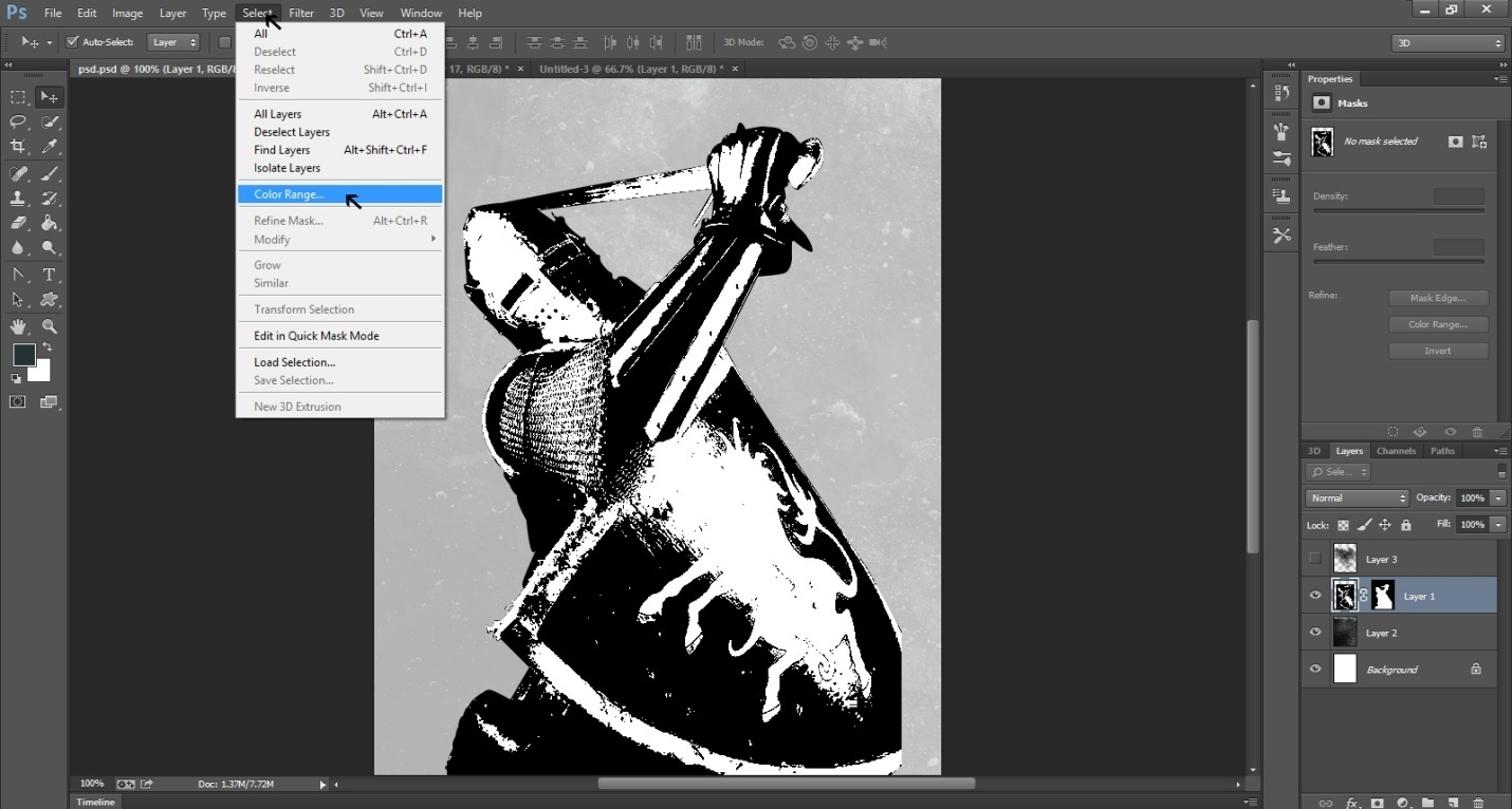Ink Splattering Knight Step -8