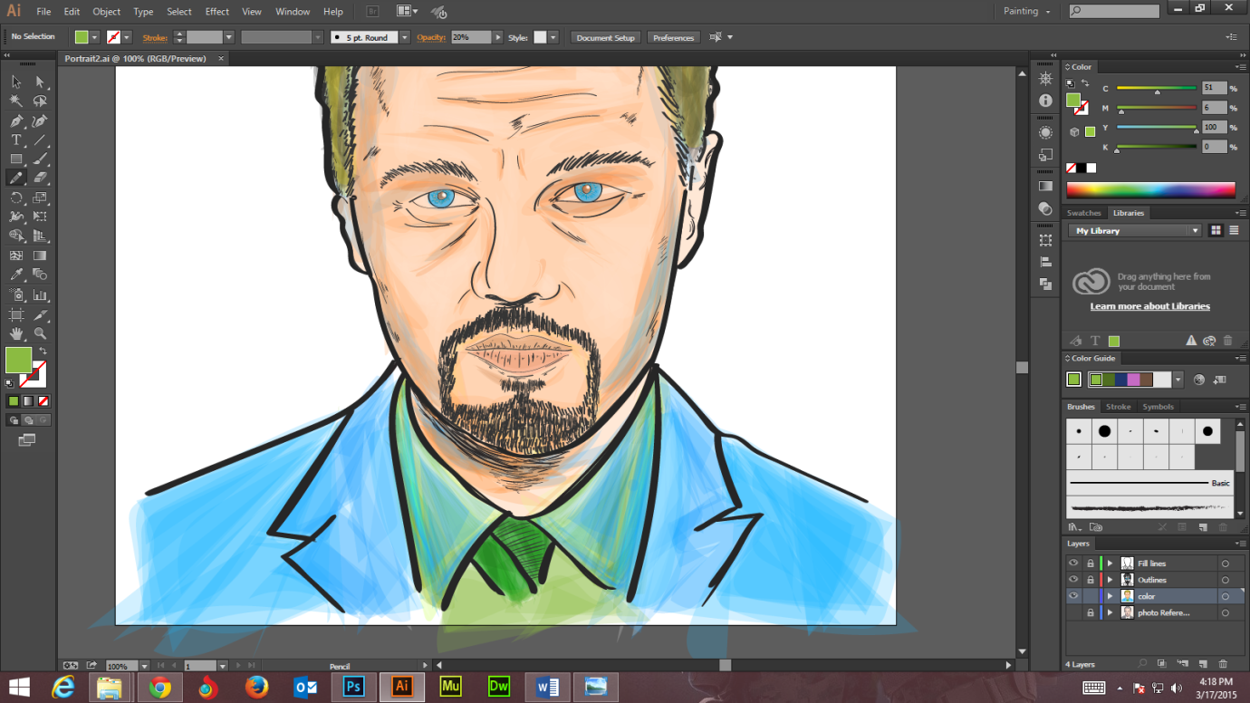 Step -10 Create Digital Art And Marker Style Portrait