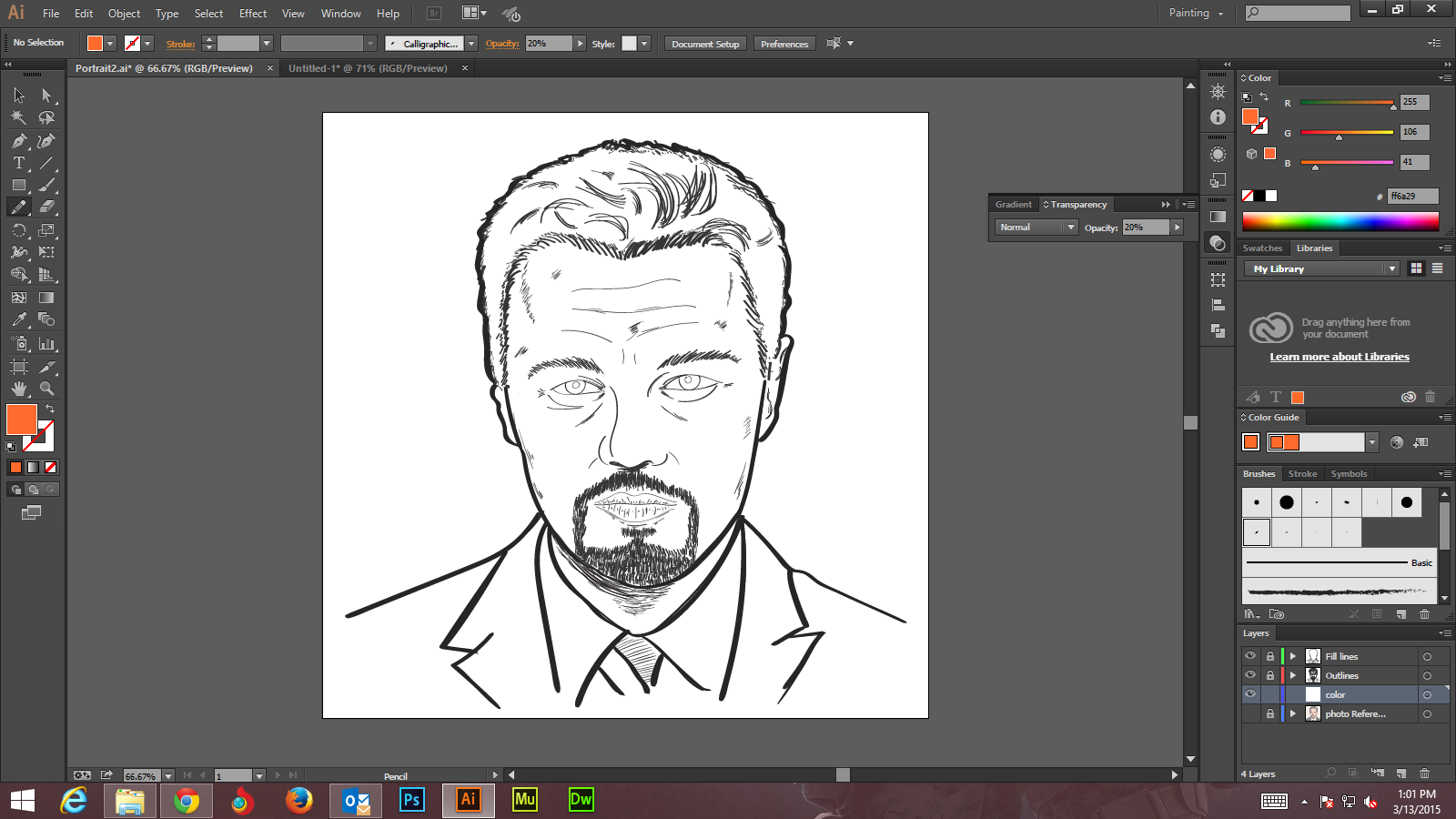 Step -3 Create Digital Art And Marker Style Portrait