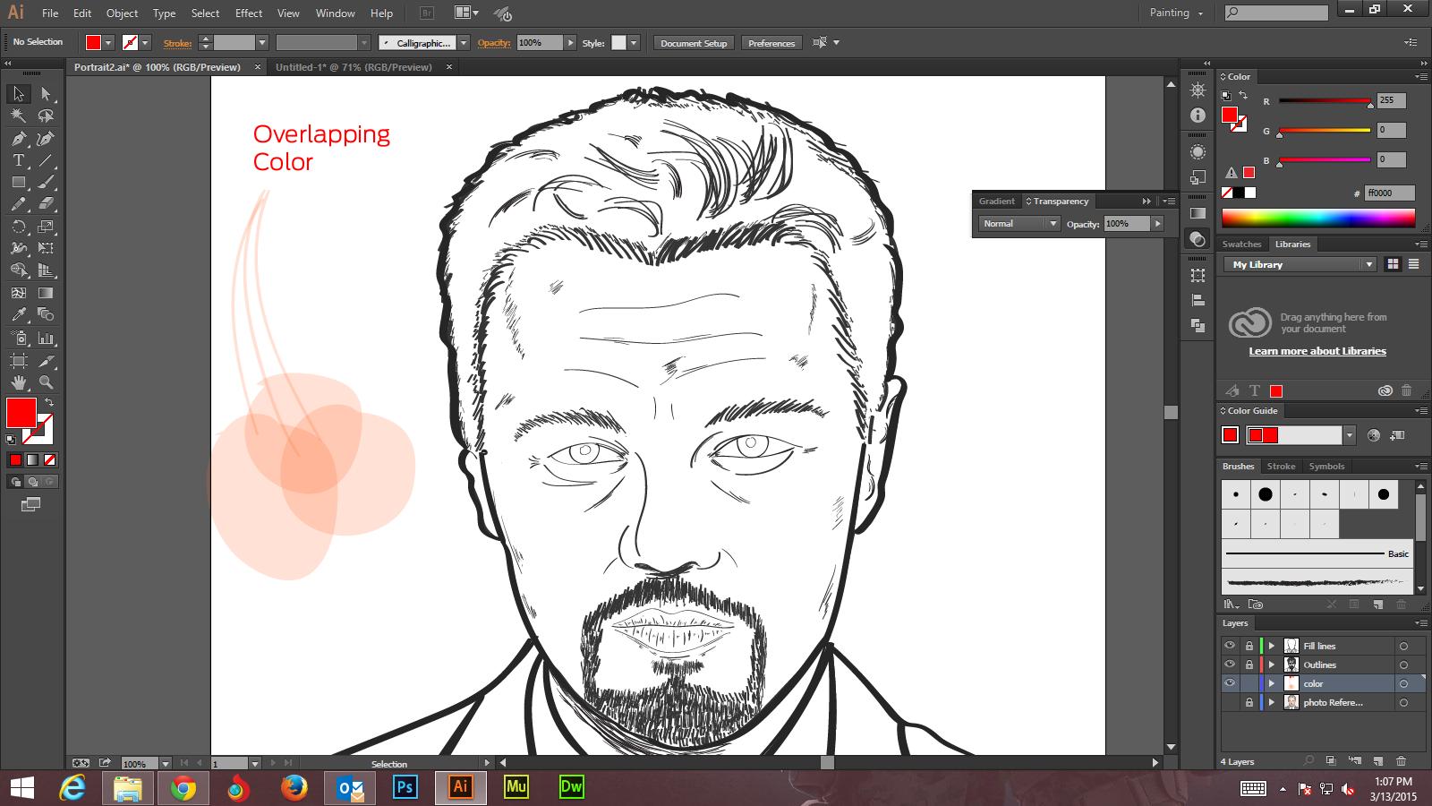Step -4 Create Digital Art And Marker Style Portrait