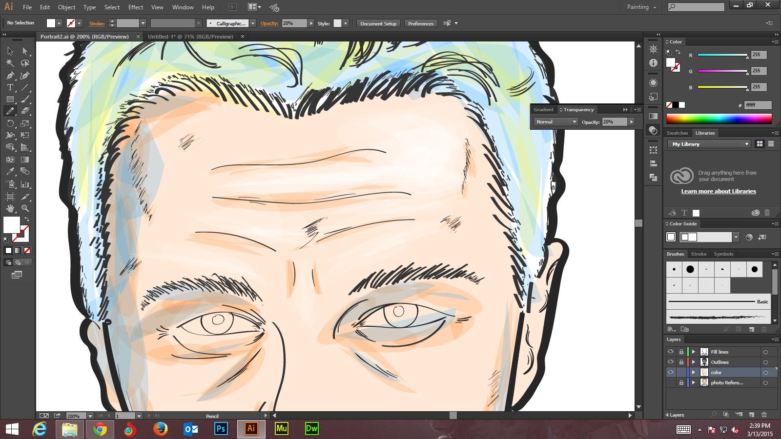 Step -6 Create Digital Art And Marker Style Portrait