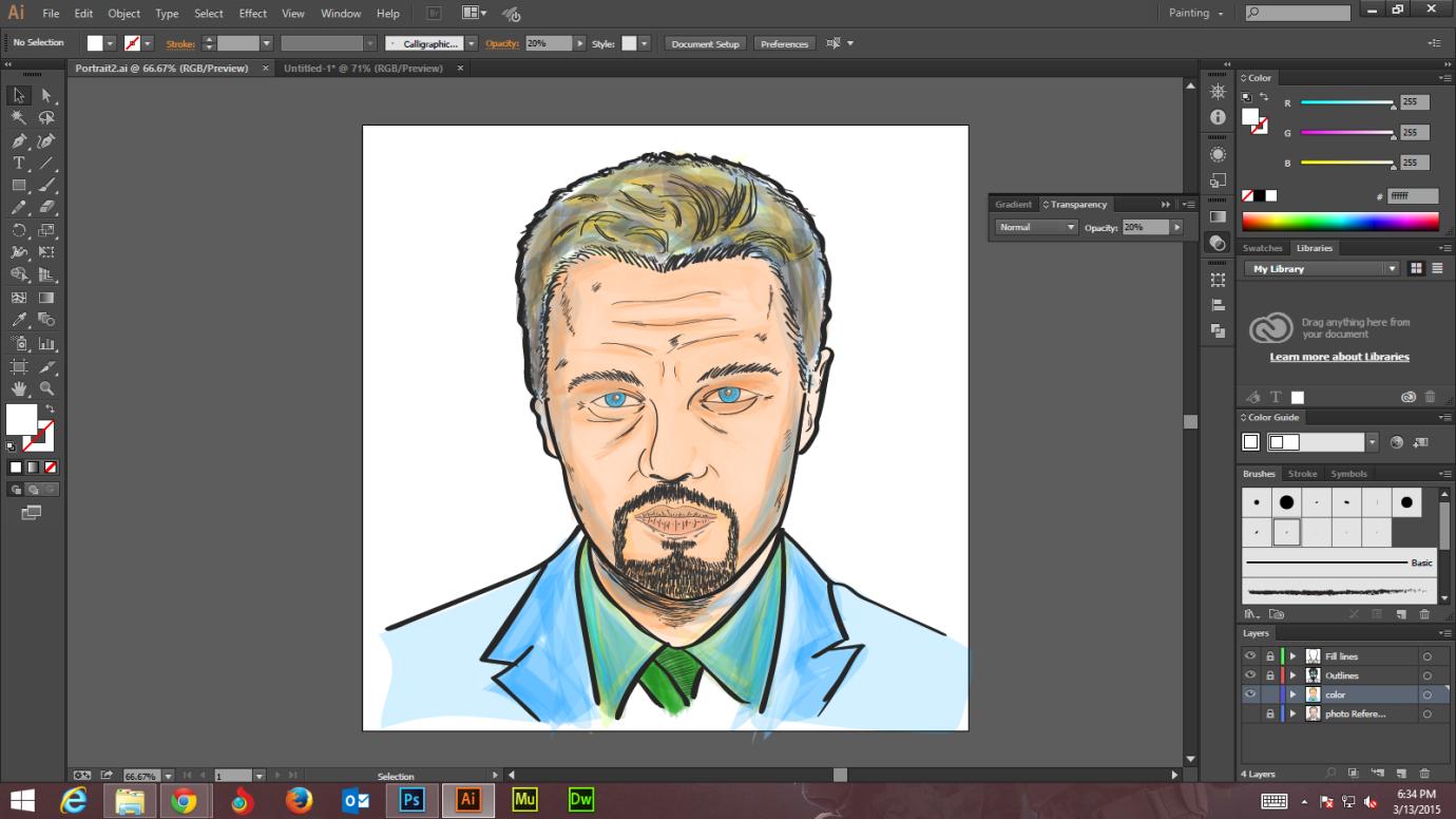 Step -8 Create Digital Art And Marker Style Portrait