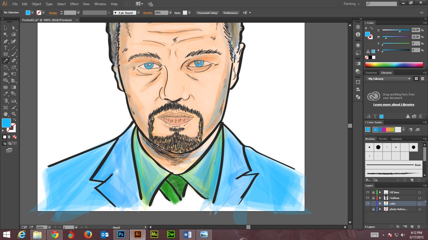 Step -9 Create Digital Art And Marker Style Portrait