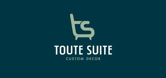 Toute Suite Home and Furnishing logo Designs