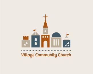 Village Community Church Religious Themed Logo Designs