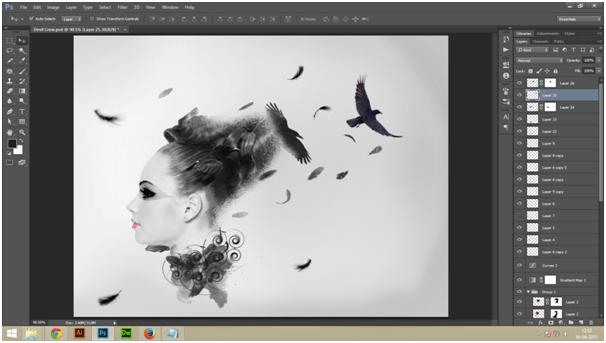 Create A Dark Abstract Crow Manipulation Step - 10