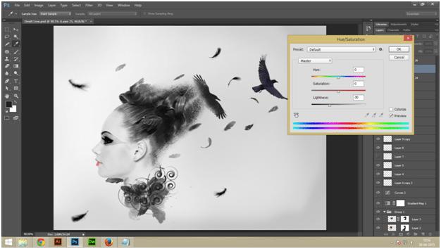 Create A Dark Abstract Crow Manipulation Step - 11